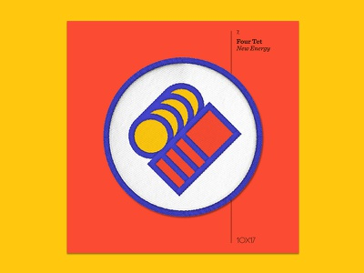 10x17 — #7: New Energy by Four Tet four tet embroidered patch album art 10x17
