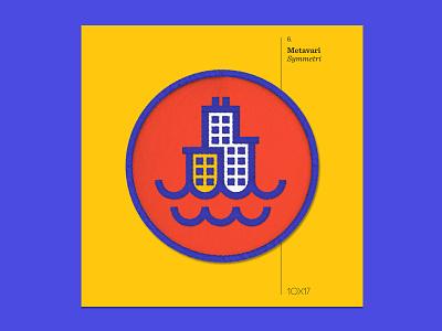 10x17 — #6: Symmetri by Metavari metavari embroidered patch album art 10x17