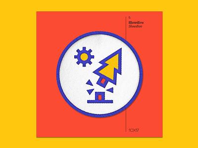 10x17 — #5: Slowdive by Slowdive slowdive embroidered patch album art 10x17