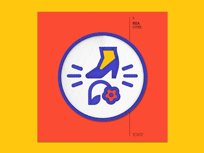 10x17 — #3: CTRL by SZA sza embroidered patch album art 10x17