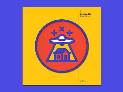 10x17 — #2: Last Place by Grandaddy grandaddy embroidered patch album art 10x17