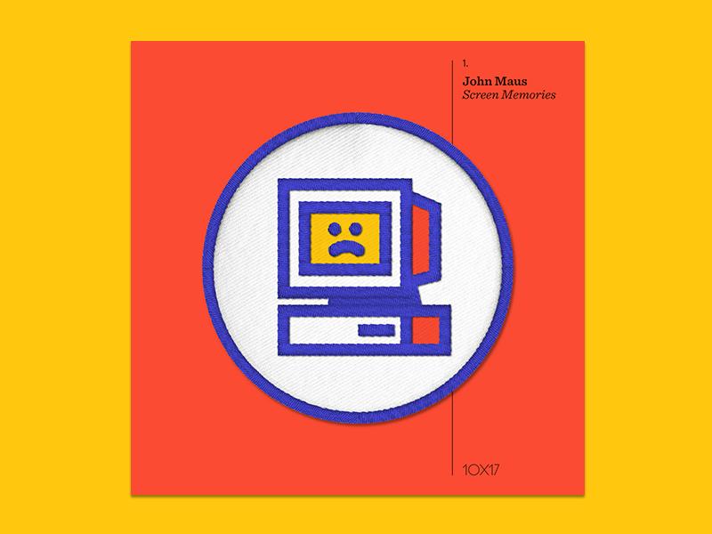 10x17 — #1: Screen Memories by John Maus john maus embroidered patch album art 10x17