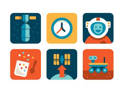 Nasa Playbook Icons icons nasa space astronaut mars rover