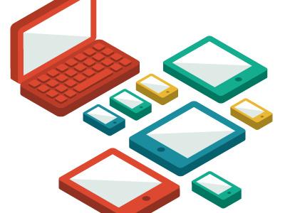 Layervault iOS announcement illustration layervault laptop tablet smartphone