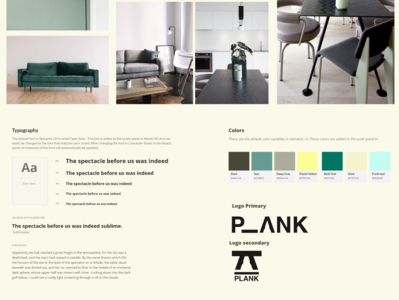 PLANK sustainable furniture UI UX