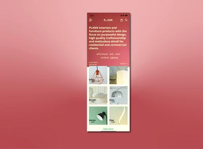 PLANK mobile application Furniture design