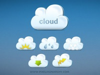 Nifty Little Cloud Icons