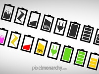 Minimalist Battery Icons Set