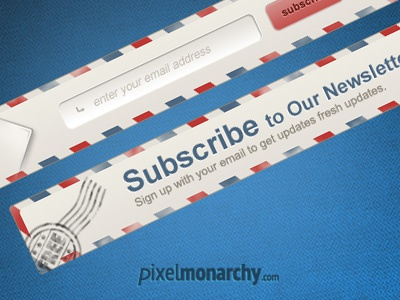 Newsletter Envelope Signup Form freebie psd newsletter post envelope sign up subscribe stamp email pop up modal box