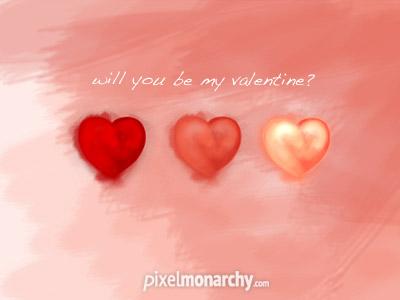 Valentine heart icons