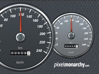 Car Speedometer PSD