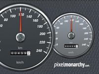 Car Speedometer PSD