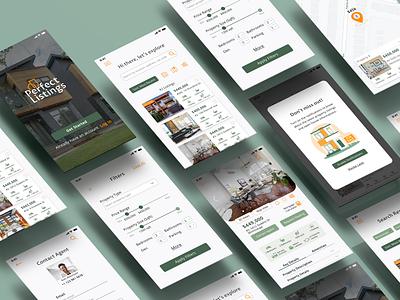 Real Estate Web&Mobile App uiux uiuxdesign properties real estate uidesign uxdesign design