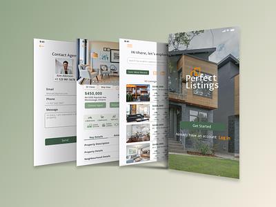 Real Estate Mobile&Web App real estate ux properties ui uxdesign uiux uidesign design