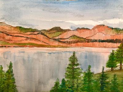 Hills watercolor