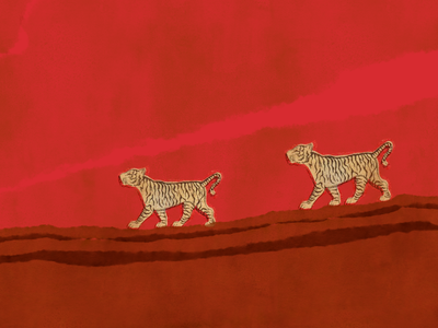 Tigers (mixed media) mixedmedia photoshop design photoshop art