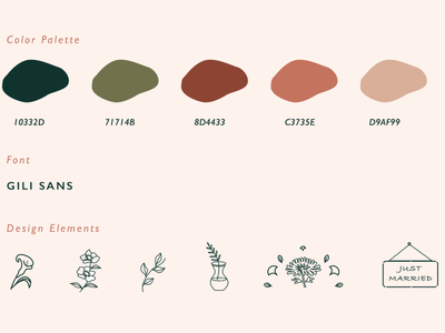DesignElements for Ikebana Floral Design Branding logo vector illustration branding design