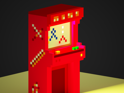 Arcade Machine illustration magicavoxel pixelart design