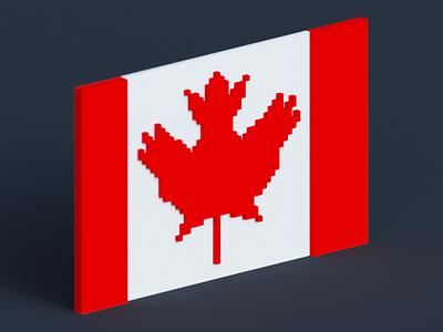 Canada Flag created in MagicaVoxel 3dart art voxelart magicalvoxel