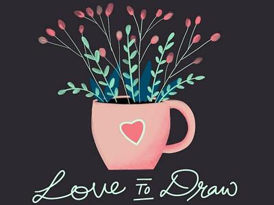 Artwork created in Procreate - Love to Draw vector illustration design