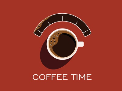 coffee time vector logo branding brand motiongraphics motion design illustration minimal design adobe