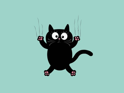 funny cat vector logo branding brand animation motion design illustration minimal design adobe