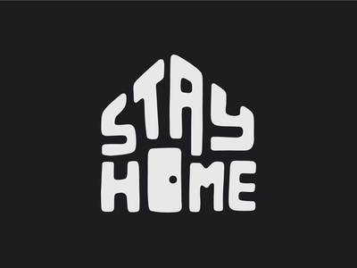 Stay Home - dark version handlettering coronavirus house home door stayhome tshirt design vector illustration