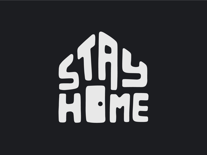 Stay Home - dark version handlettering coronavirus house home door stayhome tshirt design vector illustration