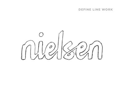 Nielsen wordmark logotype logo wordmark calligraphy hand lettered lettering typography design vector illustrator handlettering