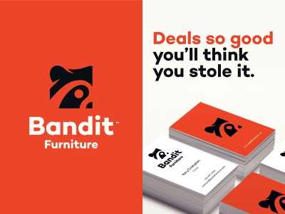 Bandit branding raccoon businesscard icon branding vector design logodesign logo bandit