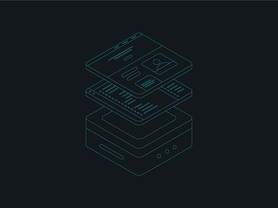 Website layers websites isometric illustration isometric vector design illustration