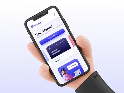 Mobile dashboard layout exploration website ui ux button card dashboad mobile app web logo branding design