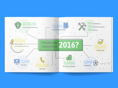 Company progress infographic infographic iconography logo badge trophy illustration layout brochure print canopy bifold card