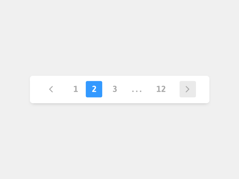 Pagination website ux usability ui pagination pages navigation minimal drop shadow concept button blog
