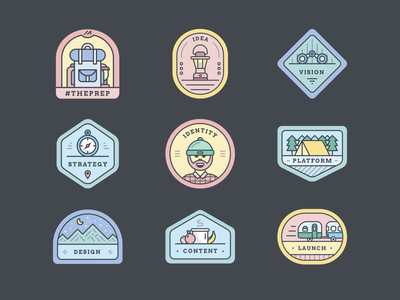 Badge series gif badge branding design flat icon illustration logo patch vector web