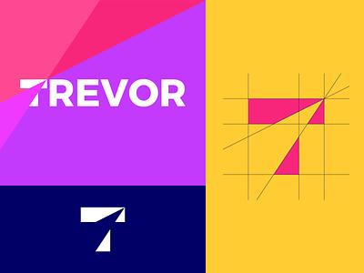 """T"" Concept logo design typography logo mark icon branding vector grid t logo"