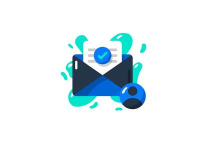 Email illustration / sketch