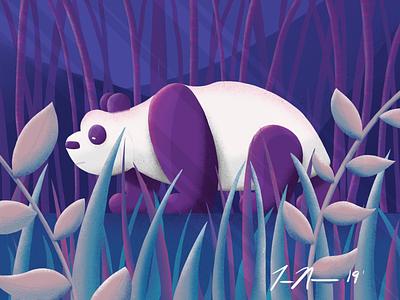 Prowling panda panda procreate ipadpro sketch art drawing design illustration