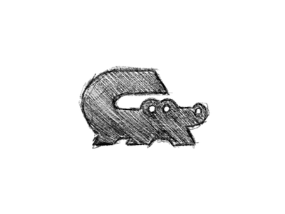 G + Gator - logo process alligator gator illustration animation sketch drawing logo branding vector icon design