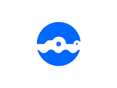 Gator Swimming Icon alligator negativespace negative space logo gator animation dribbbleweeklywarmup iconography logo branding vector icon design illustration