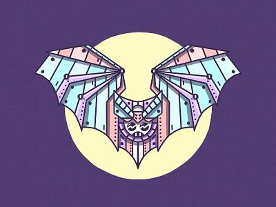 Robat - Weekly Warm-Up No. 6 character design art drawing sketch moon robot bat dribbbleweeklywarmup illustration