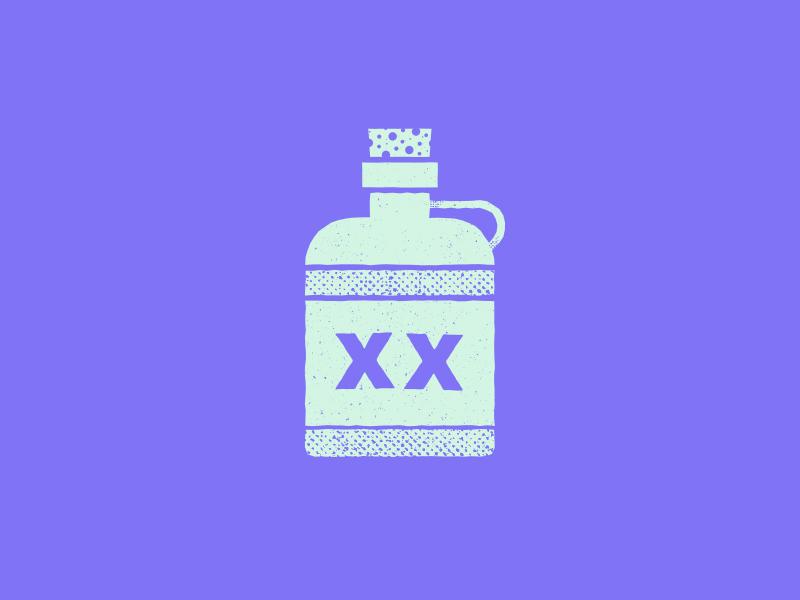 XX Moonshine - Typehue Week 24 Rebound moonshine rebound illustration typehue vector