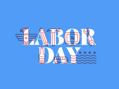 Labor Day Illustration iconography usa labor day holiday vector illustration