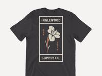 Inglewood Supply Co. Iris Shirt clothing illustration illustrator vector design graphic shirt flower iris