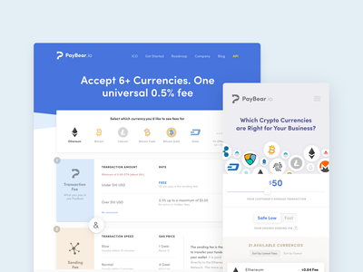 Cryptocurrency Pricing Page