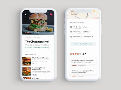 Profile Screen of Food Truck App