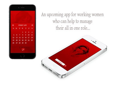 app design  ui design app design clean app ui ios iphone red calendar