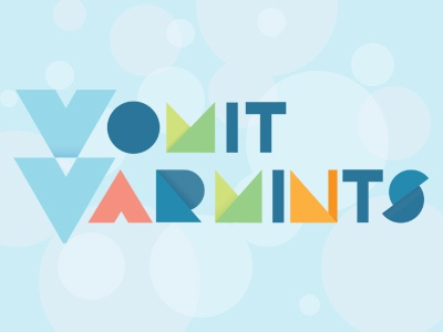Vomit Varmints typography log illustration