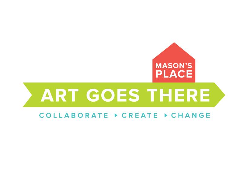 Art Goes There Logo illustrator illustration logo nonprofit