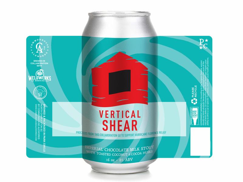 Vertical Shear Stout Can Design vector design beer label illustration beer art beer label design graphic desgin